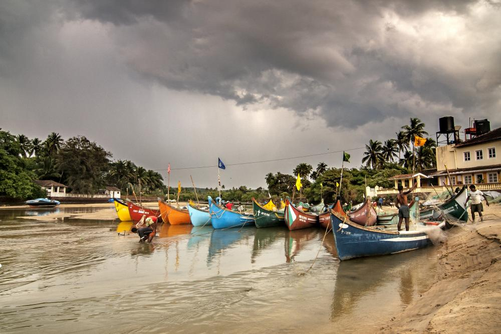 кротово пляж бага гоа индия фото наступлением